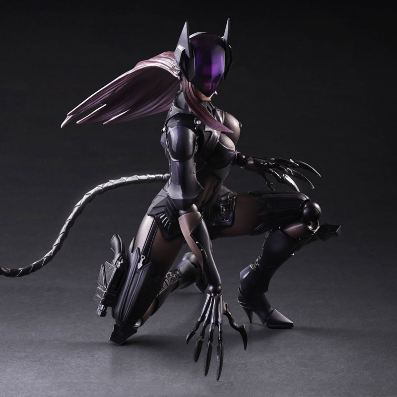 Play arts change PA change Final Fantasy DC catwoman can move hands to do model ornaments