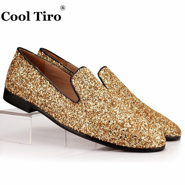 Mens Black Glitter Dress Shoes