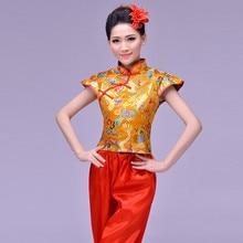 Top Fashion Disfraces Ancient Chinese Dance Costumes Women Hanfu Dragon Pattern Drum Yangko Wear National Costume Stage