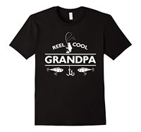 Mens Reel Cool Grandpa Fishinger T-Shirt Father's Day Gift Short Sleeve Discount 100 % Cotton T Shirts Brand Style Short Sleeve