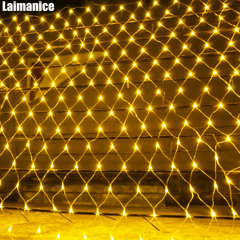 DHL Waterproof mesh net string light 8mx10m Web 2600 Led Fairy Light For Christmas Wedding Party