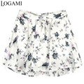 Skirt Shorts American Apparel Summer Flower Print Chiffon Skirts Womens Casual Elegant Mini Skirt Short Faldas Saia