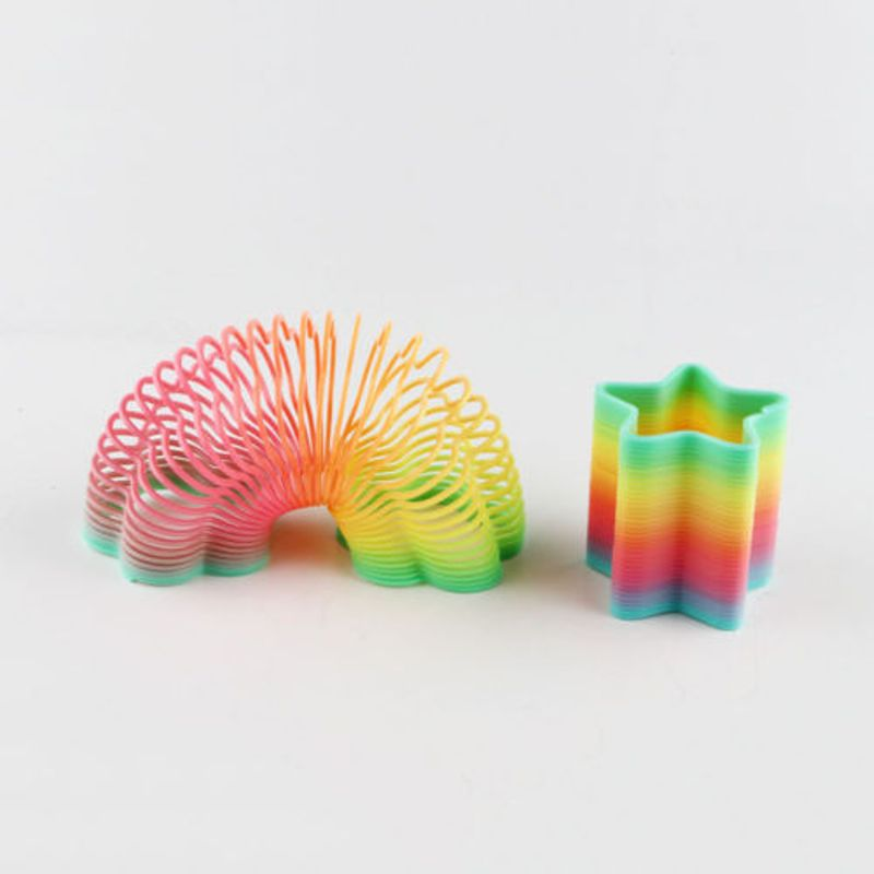 1pc Plastic Magic Rainbow Spring Coil Slinky Toy Classic Fun Kids Gift Childrens ...