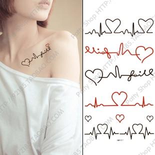 Electrocardiograma Y Corazón Tatuajes Para Mujeres