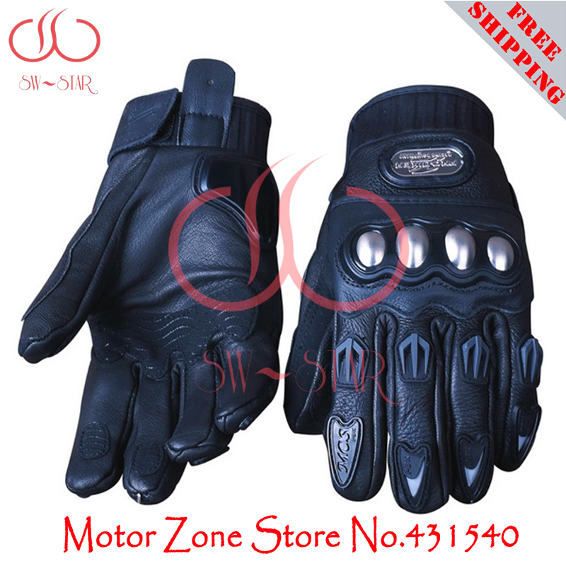 PRO BIKER motorcycle gloves Leather Motorcycle Racing Gloves Goat Skin motocross special price for only 1 pair GPCS05