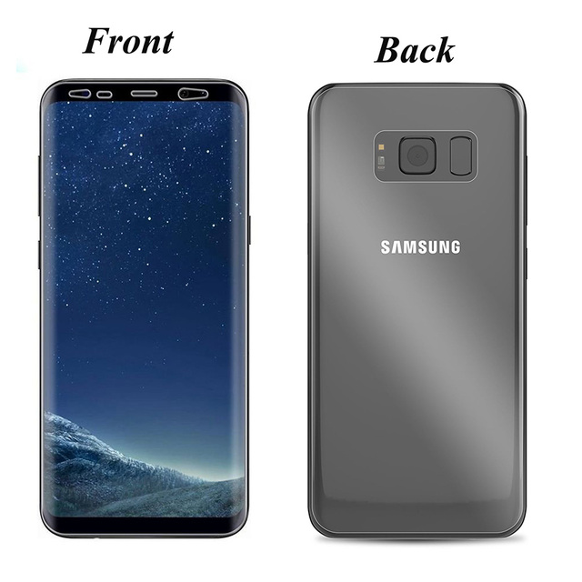 new concept 43e17 34b76 US $2.56 29% OFF|SHUOHU Front + Back Film For Samsung Galaxy S8 S8 Plus  Full Coverage TPU Screen Protector Soft Film For Samsung GalaxyS8 S8Plus-in  ...
