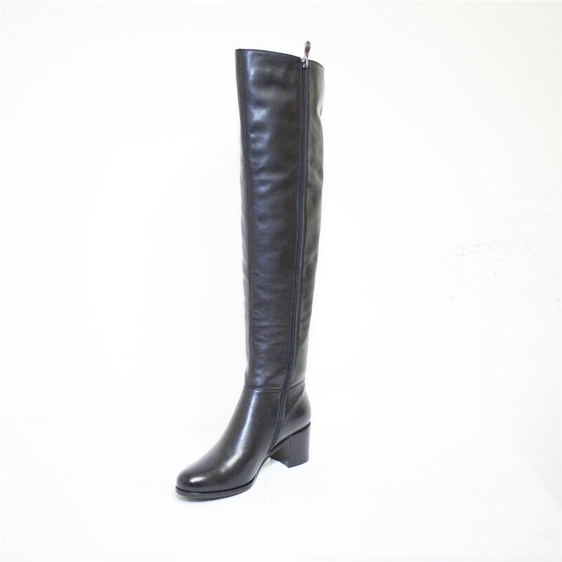 Chaud Cuir Fn81 Boot Hiver Pritivimin genou Sur Haute Fille Mode Laine Réel En De Bottes la Dames Bordée Femmes Véritable Chaussures Fourrure 7EqZZd