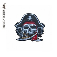 Iron On Patches Mix Embroidered Skeleton Pirate Double Knife Personality Accessories Jacket Back MC Patches