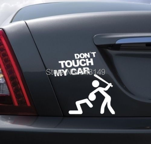 Aliauto Car-styling JANGAN TOUCH MY CAR Sticker Dan Decal Untuk Chevrolet Cruze Ford Focus Golf Polo Skoda Kia Opel Honda renault