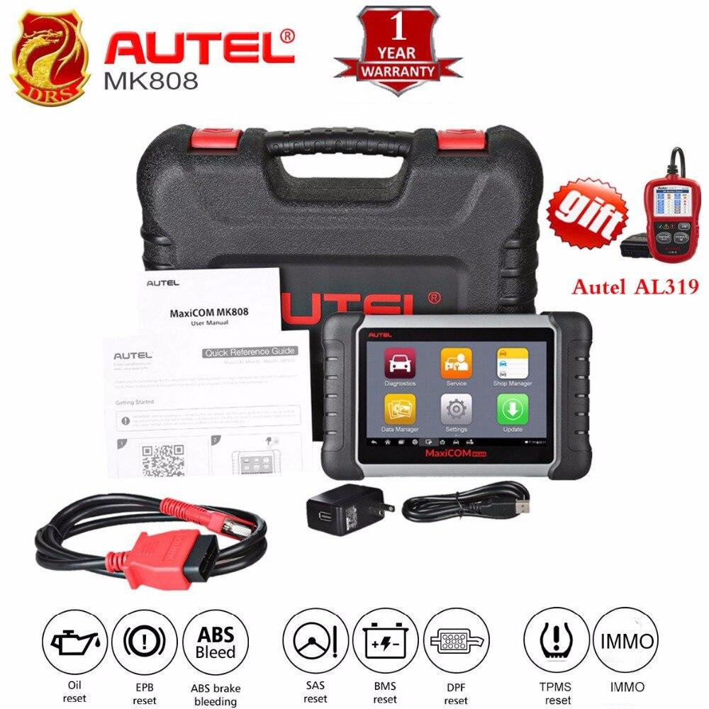 Autel MaxiCOM MK808 MX808 автомобильной сканера OBD2 OBDII автомобиля диагностический сканер универсальный инструмент полный системы автоматического код...
