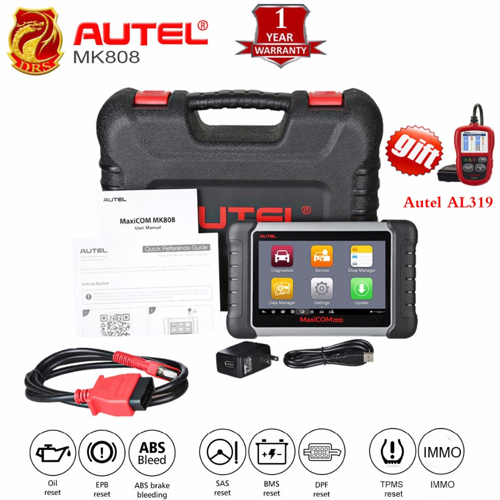 Autel MaxiCOM MK808 MX808 Automotive Scanner OBD2 OBDII Car Diagnostic Scanner Universal Tool Full Systems Auto Code Reader ABS