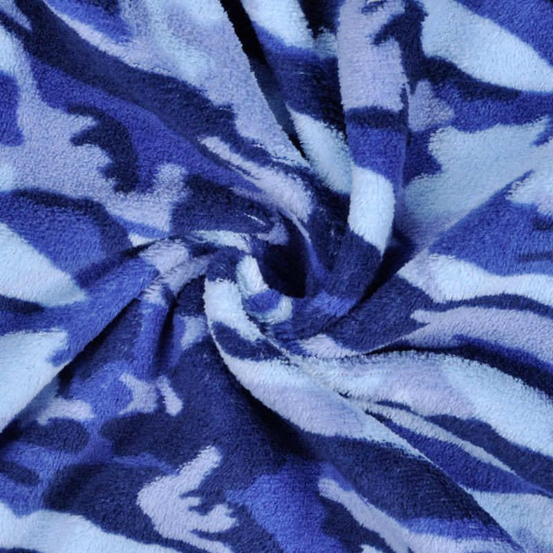 Men Women Warm Winter Coral Fleece Robe Blue Camouflage Plus Size Night Gown Sleepwear Bathrobe For Lovers (3)
