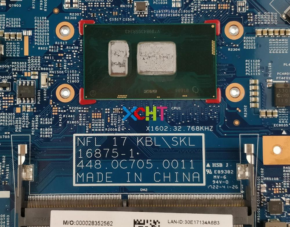 XCHT For HP 17 17 BS 17T BS000 Series 925625 601 925625 001 16875 1 448.0C705.0011 UMA I3 7100U Laptop Motherboard Tested