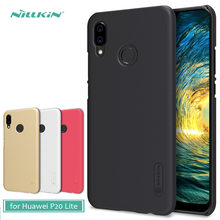 50922de417626 Huawei P20 Lite Durumda Nillkin Süper Buzlu Kalkanı Sert Arka PC Kapak Kılıf  için Huawei Nova 3E telefon kılıfı + ekran Koruyucu