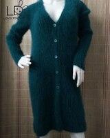 LOVELYDONKEY mink cashmere sweater women long cashmere cardigan pure cashmere sweater mink fur coat free shipping M473