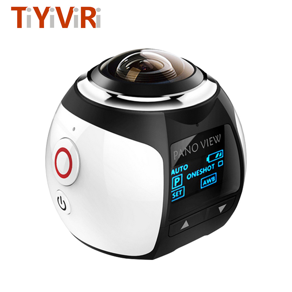 цена на 360 Panoramic Camera 360D Ultra HD Build-in Wifi Mini 3D Waterproof Sport Driving 360 Action Camera for Android/IOS Smartphone