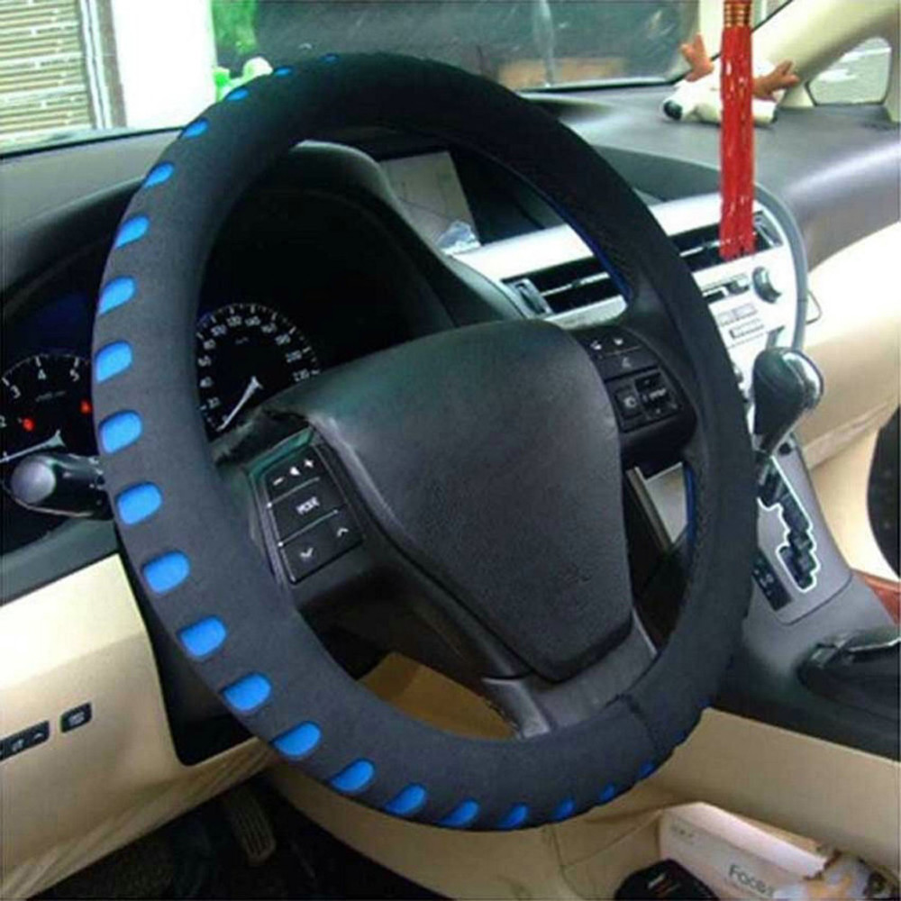 EVA Punching Universal Car Steering Wheel Cover Diameter 38cm Automotive Sup High Quality Car Styling Accessories 3 Colors 9