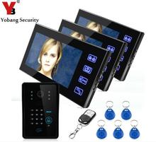 YobangSecurity Touch Key 7″Inch Lcd RFID Password Video Door Phone Intercom System Wth IR Camera Remote Access Control System