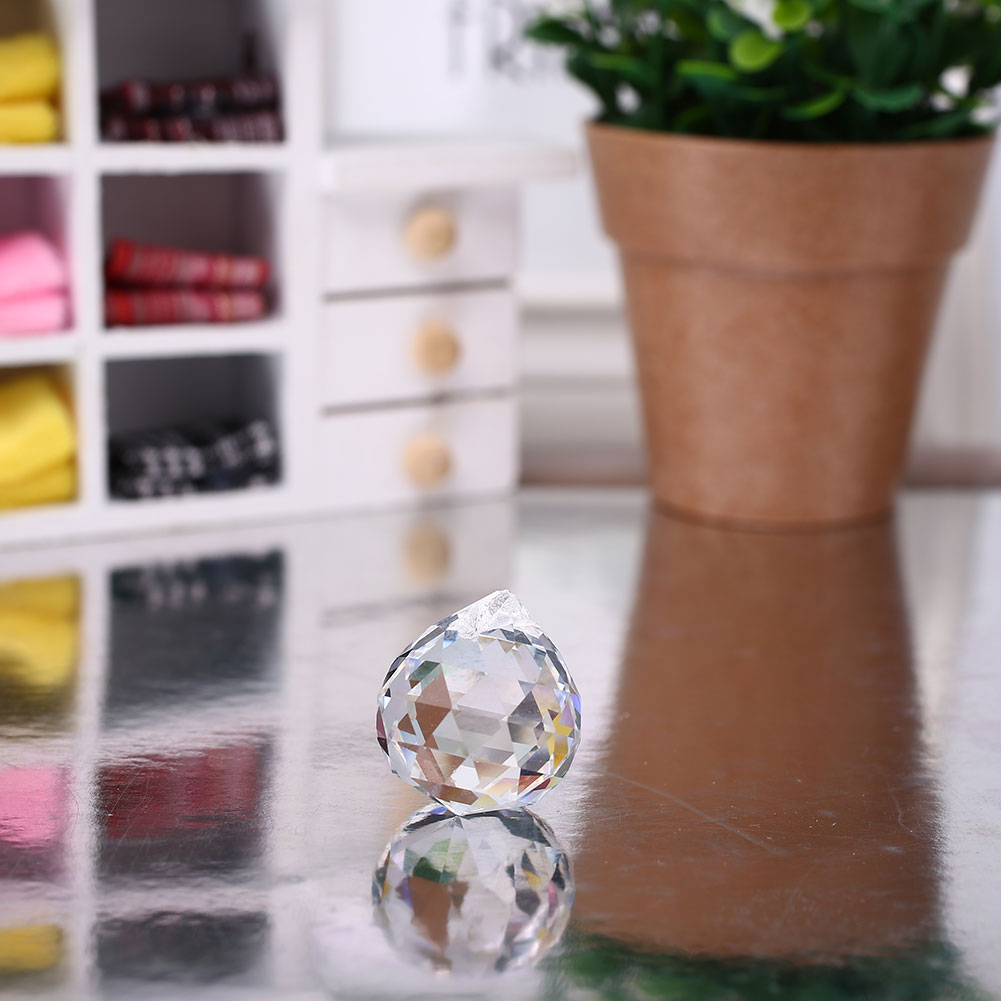 20 мм прозрачное стекло, хрусталь шар призма для подвешивания Витражная лампа кулон для свадьбы