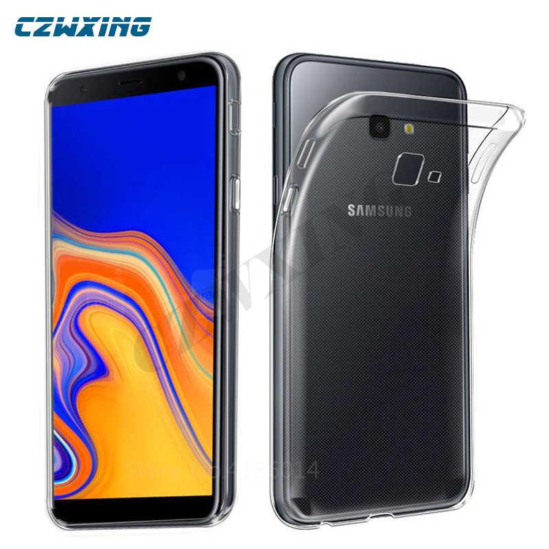 f2a4735a08f Para Samsung J4 más caso de silicona suave cubierta de la caja del teléfono para  Samsung