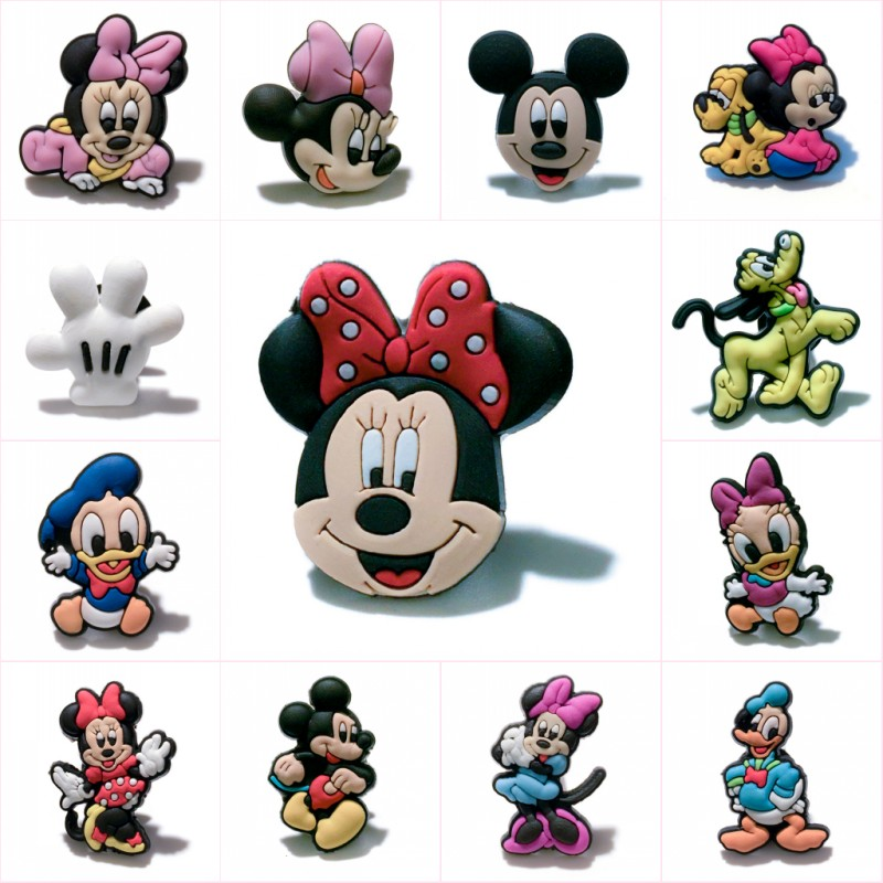 1pcs Mickey Cartoon Cute PVC Magnetic Stickers For Kids Blackboard Magnets At Office Shool Fridge Magnets DIY Craft Gift