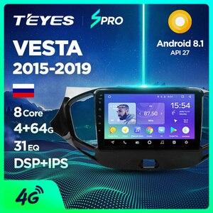 TEYES SPRO For Lada VESTA 2015-2019 Car Radio Multimedia Video Player Navigation GPS Android 8.1 Accessories Sedan No dvd 2 din(China)
