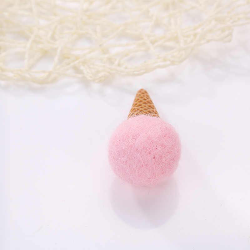 5 шт./лот 3,5 см мини мороженое шерсть фетр ремесло Poke DIY наборы Multiuse Рождество дерево деко Брошь Дети волос Группа подарок оптовая продажа