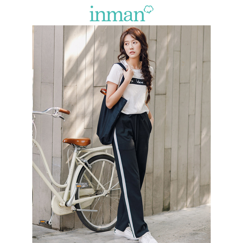 INMAN 2019 Summer Style Causal Suit Round Collar Printed Fashion Suit Women Comfortable Clothing T Shirt And Pants