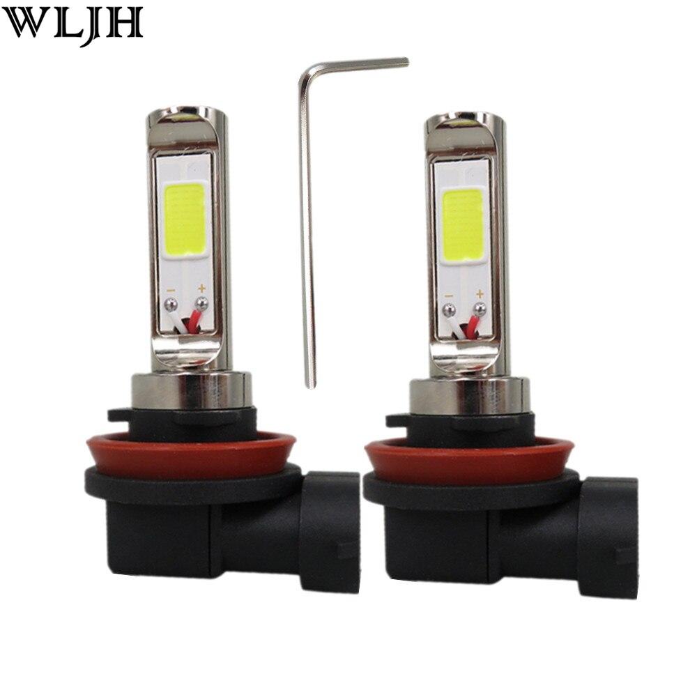 WLJH 2x12 V 24 V 30 V 30 W Led H4 H7 H8 9005 9006 COB Led Puce De Voiture Auto Moto Moteur DRL Conduite Phare Brouillard Ampoule De la Lampe