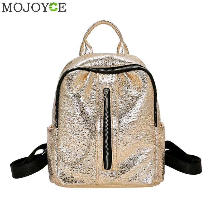 Women Mini Burst Pattern Backpack School Bags PU Leather Bag Female Silver Backpacks Teenage Girls Shoulder Bags New Mochila hero 616 retro style pc fountain pen green red black 10 pcs