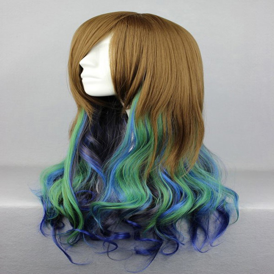 HAIRJOY Synthetic Hair Zipper 70cm Long Wavy Harajuku Lolita Cosplay Wig 18 Colors Available 97