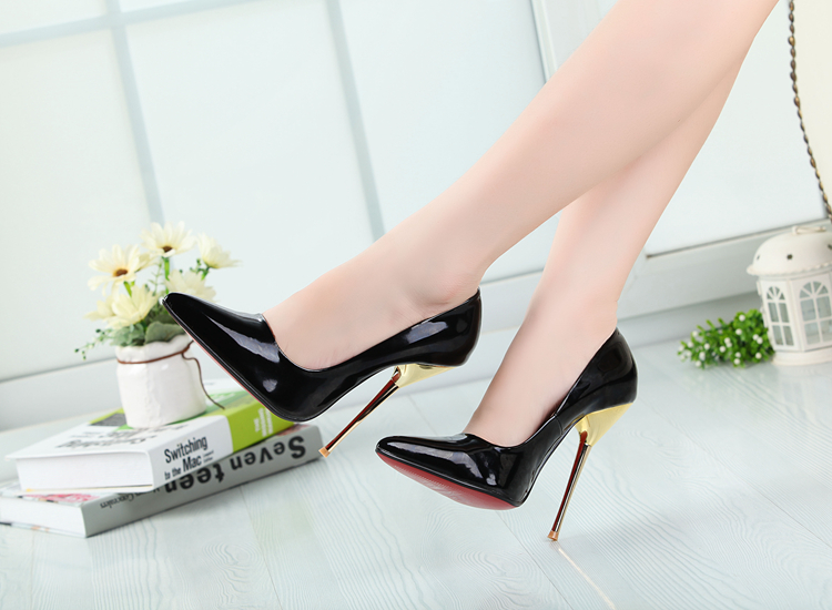 14 cm metal with fine tip with female sexy high-heeled shoes - 8.5-15 big yards