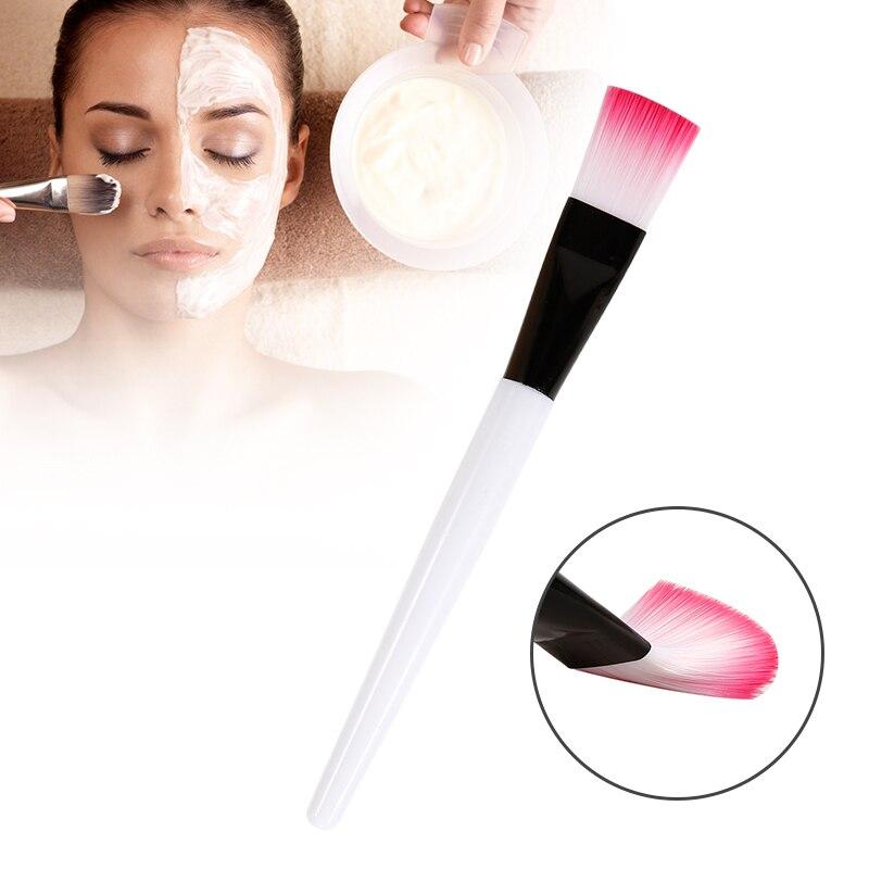 JHXY 1Pc Pro Single Foundation Concealer Mask Cream Makeup Brush Facial Mud Mask Brush Foundation Cream Contour Mix Makeup Tools