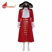 CostumeBuy película Piratas del Caribe Jack Sparrow Cosplay capitán pirata  Trench con camisa sombrero traje cualquier tamaño L92. 5d7f47739d1
