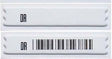 Free shipping EAS am 58khz soft label,EAS adhesive label 5000pcs eas soft label deactivator for 8 2mhz eas soft label decoder with sound and light