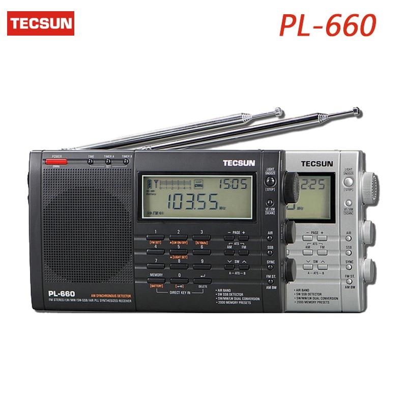 Tragbares Audio & Video Tecsun Pl-660 Digital Radio Tragbare Pll Ssb Vhf Air 3-band-funkempfänger Fm/mw/sw/lw Radio Multiband Doppelkonversion Radio