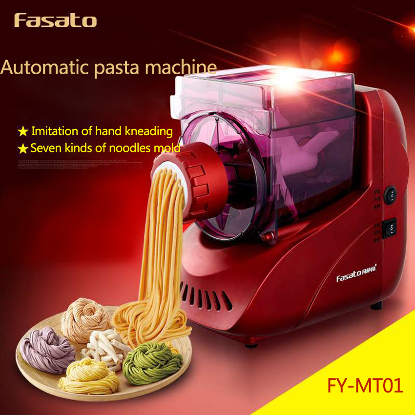 1PC FY-MT01 Full-automatic Pasta Maker Noodle Machine Household Made Mini Intelligent Vegetable Color Noodle Cutter 1pc household mini pasta machine manual metal spaetzle makers pressing machine pole head mingled split noodle tools