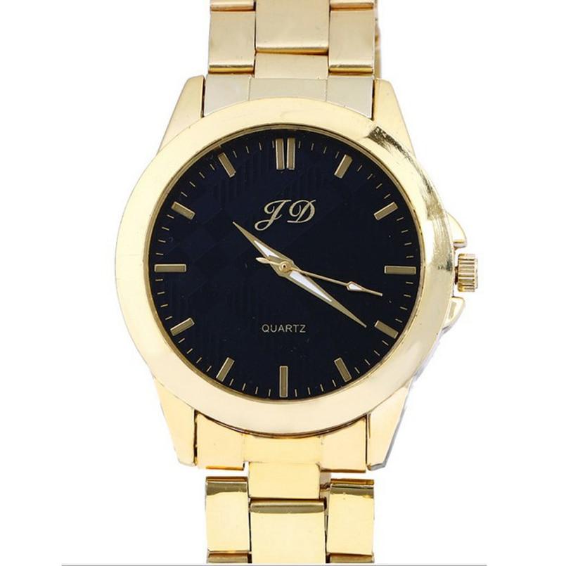 Excellent Quality Golden Clock Fashion Men watch full gold Stainless Steel Quartz watches Wrist Watch Wholesale mens Goldwatch