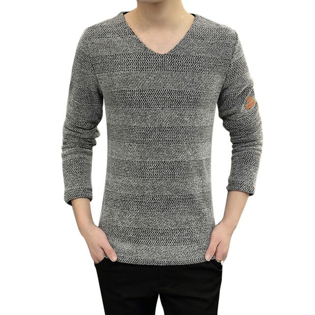 Harajuku Men's Sweaters Pullovers Autumn Winter Long Sleeve V Neck Patchwork Tops Cotton Pull Russia Style Homme Plus Size L-6XL