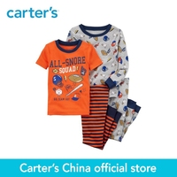 Carter S 4 Piece Baby Children Kids Clothing Boy Sports Snug Fit Cotton PJs 23235815
