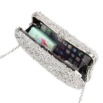 кошелек из бисера | Роскошные вечерние сумки с Луной, украшенные бисером, модные женские клатчи, дневной клатч, женские вечерние сумочки на цепочке, женская сум...