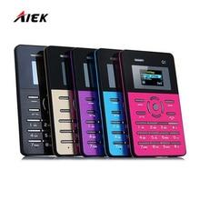 Русский Оригинальный AIEK Q1 Quad Band карты телефон мини карман для учеников телефон самый тонкий телефон карты MP3 FM PK AIEK E1 C6