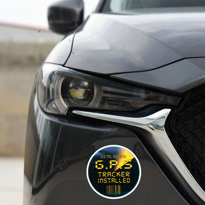 US $1 03 40% OFF|YJZT 11 5*11 5CM GPS Tracker Installed Black And Yeallow  PVC Car Sticker Bold Decals C1 3042-in Car Stickers from Automobiles &