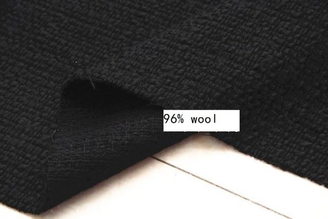 """Bezpłatny statku 96% wełna czarny tweed tkaniny 150 cm szerokości i metr 59"""""""