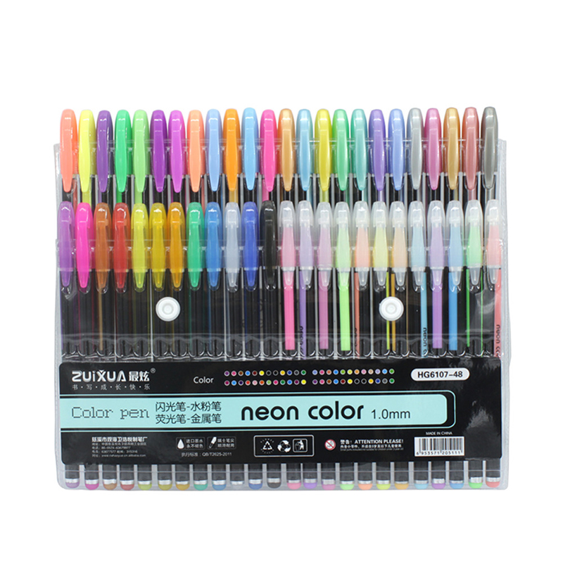 24/36/48 Colors 1.0mm Gel Pens Set Refill  Metallic Pastel Neon Glitter Sketch Drawing Color Pen Manga Markers School Stationery24/36/48 Colors 1.0mm Gel Pens Set Refill  Metallic Pastel Neon Glitter Sketch Drawing Color Pen Manga Markers School Stationery