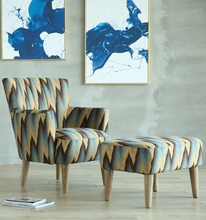 American Style Living Room Court Sofa Chair With Fabric
