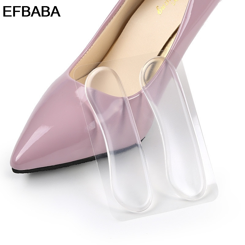 EFBABA Heel Inserts Shoe Sticker Pads Gel Cushions Shoe Liners Transparent Silicone Insoles Semelles Confort Insole Heel Spur