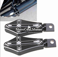 Edge Cut CNC Front & Rear Foot Peg Foot Rests For Harley Davidson Sportster Touring Softail Road King (All Years)