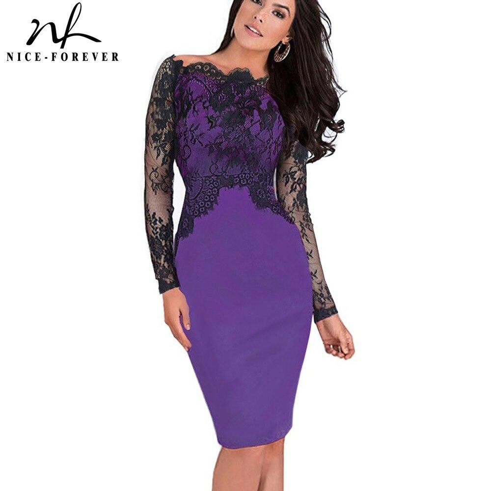Niza-para siempre apagado-hombro magnífico vestido vintage sexy ...