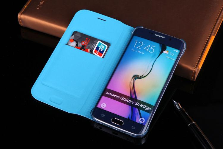 Samsung Galaxy S6 Edge G925 үшін былғарыдан - Мобильді телефондарға арналған аксессуарлар мен бөлшектер - фото 4